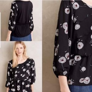 Anthropologie Deletta wished Blooms Blouse size S